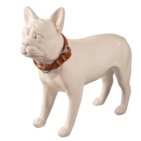 Chelsea Leather Dog Collar – Caramel & Tan 3