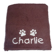 My Posh Paws - Personalised Pet Towel - Chocolate
