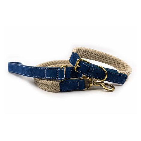 Rope collar (flat) - BLUE 3
