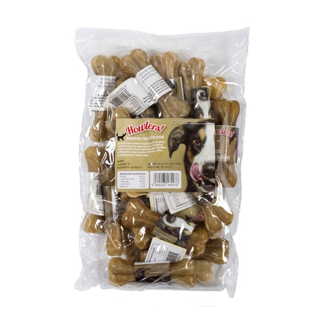 Howlers Natural Rawhide Mini Pressed Bones