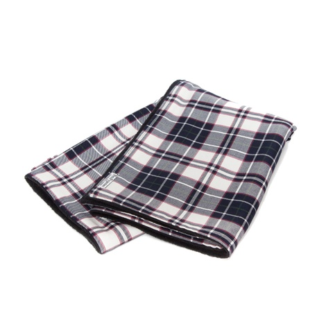 McNulty Blanket - Navy and White Check