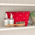 Cranberry Star Cotton Wash Bag 4