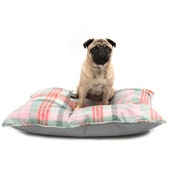 Mutts & Hounds - Macaroon Check Pillow Dog Bed