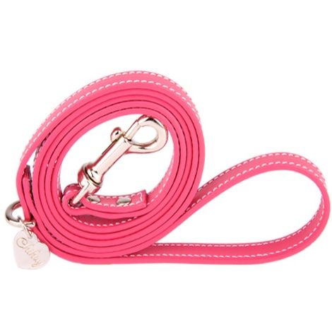 Pink and Silver Luxury Leather Lead