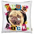 Pugs Rock Cushion