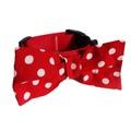 "Red Polka Bowtie Dog Collar 1"" Width 3"