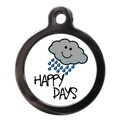 Happy Rainy Days Dog ID Tag