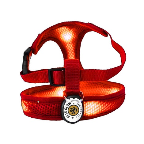 LED Dog Harness - Red