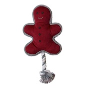Pet Brands - Gingerbread Man Dog Toy