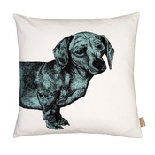 Lisa Bliss - Dachshund Cushion - Turquoise
