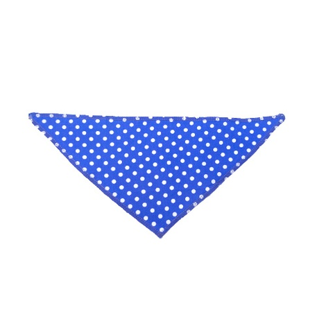 Blue Polka Dot Dog Bandana 2