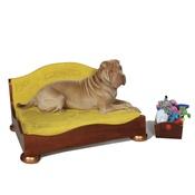 Katalin zu Windischgraetz - Classic Mahogany & Copper Dog Sofa