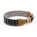 Tweed & Leather Dog Collar - Ascot 2