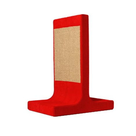 Scratching Post - Letter T - Red
