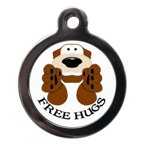 Free Hugs Pet ID Tag