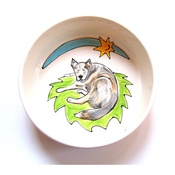 Purple Glaze Pottery - Large Personalised Dog Bowl