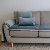 The Lounging Hound - Lustre Velvet Sofa Topper - Slate