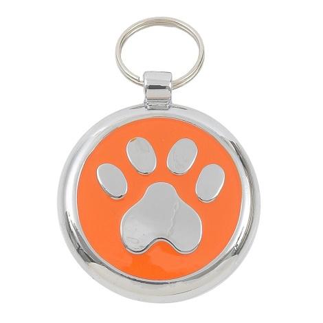 Smarties Orange Paw Pet ID Tag