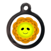PS Pet Tags - Smiley Flower Dog ID Tag