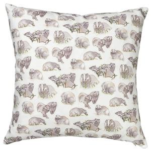 Badger Print Cushion