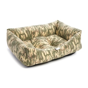Camouflage Print Dog Bed