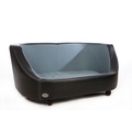 Oxford I Leather Pet Bed - Moonlight Black 2