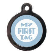 PS Pet Tags - My First Pet ID Tag - Blue
