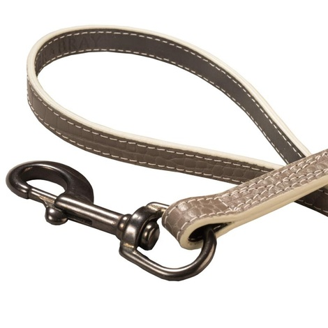 Paris Croc Dog Lead – Steeple Grey & Stone 2