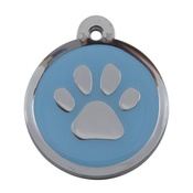 Tagiffany - My Sweetie Light Blue Paw Pet ID Tag