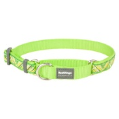 Red Dingo - Flanno Martingale Dog Collar – Lime Green