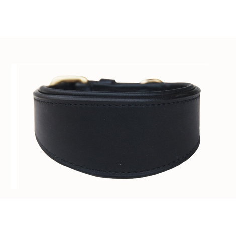 Luxury Sighthound Leather Dog Collar – Black