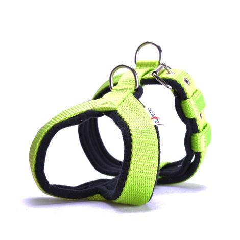 2.5cm Width Fleece Comfort Dog Harness – Neon Green