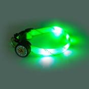 PetsGlow - Flashdance LED Dog Collar - Green