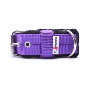El Perro - 4cm width Fleece Comfort Dog Collar - Purple