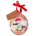 Penguin Rawhide Bone Christmas Bauble