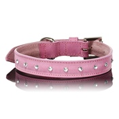 Paws with Opulence - Light Pink Swarovski Dog Collar