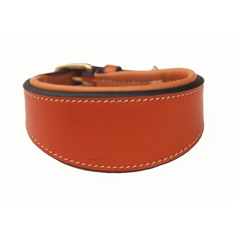 Luxury Sighthound Leather Dog Collar – London Tan