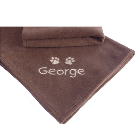 Large Personalised Pet Blanket - Milk Chocolate