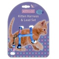 Snag-Free Kitten Harness & Lead Set - Blue
