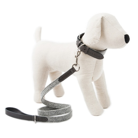 Stoneham Grey Tweed Dog Lead 2