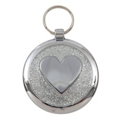 Tagiffany - Shimmer Silver Sparkle Paw Pet ID Tag