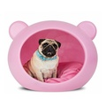 Small Pink Dog Cave with Pink Cushion
