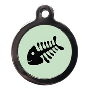 PS Pet Tags - Fishbone Cat Tag - Green