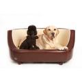 Oxford I Leather Pet Bed - Chestnut Beige 2