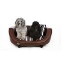 Oxford 2 Leather Pet Bed - Chestnut Beige 2