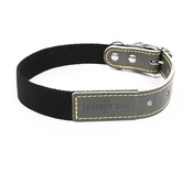 The Leather Dog Co - Black Cotton Webbing Dog Collar