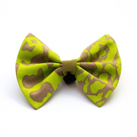 Neon Leapard Dog Bow Tie