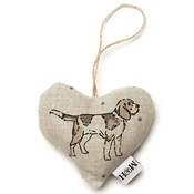 Mutts & Hounds - Dogs Linen Lavender Heart Natural - Beagle
