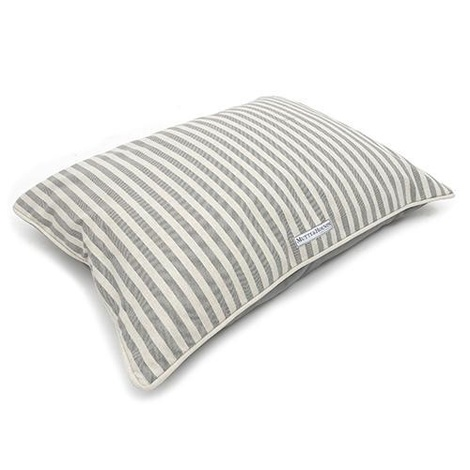Flint Stripe Brushed Cotton Pillow Dog Bed