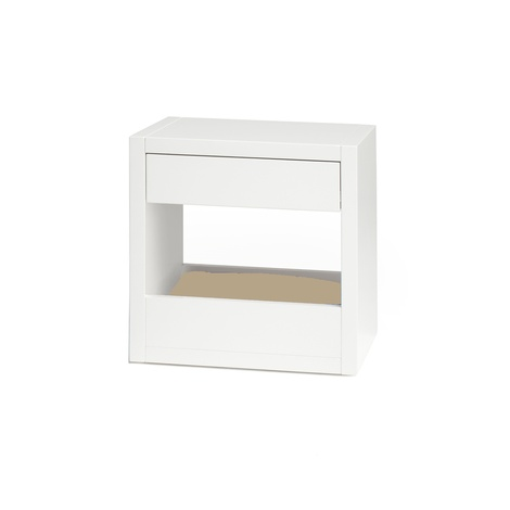 Bloq Pet Bed & Side Table - White 12